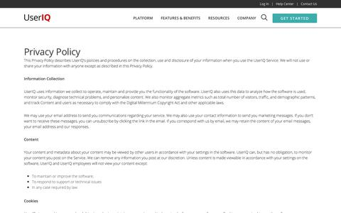 Privacy Policy - UserIQ Customer Growth Platform™