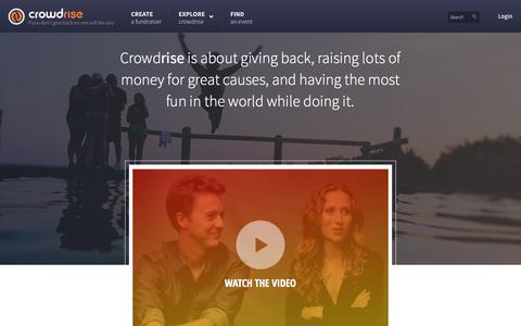 Screenshot of About Page crowdrise.com - About Crowdrise - captured Dec. 17, 2014