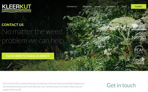 Screenshot of Contact Page kleerkut.co.uk - Contact KleerKut Commercial and Doesmetic Weed Removal Services. - captured Nov. 15, 2018
