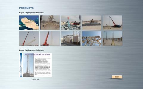 Screenshot of Products Page dfitelecom.com - dfitelecom, engineering, ingénierie, pylon, monopole | PRODUCTS - captured July 14, 2018