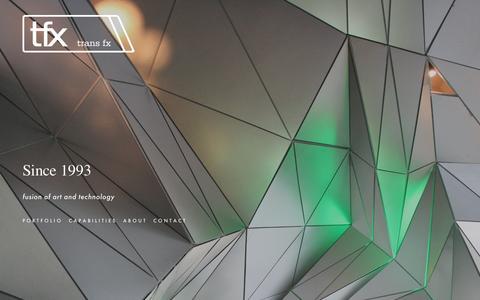 Screenshot of Home Page transfx.com - Trans FX Inc. - captured Dec. 2, 2016
