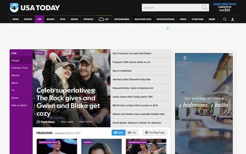 Screenshot of Team Page usatoday.com - Celebrity Photos, Videos and Interviews - USATODAY.com - captured Dec. 28, 2015