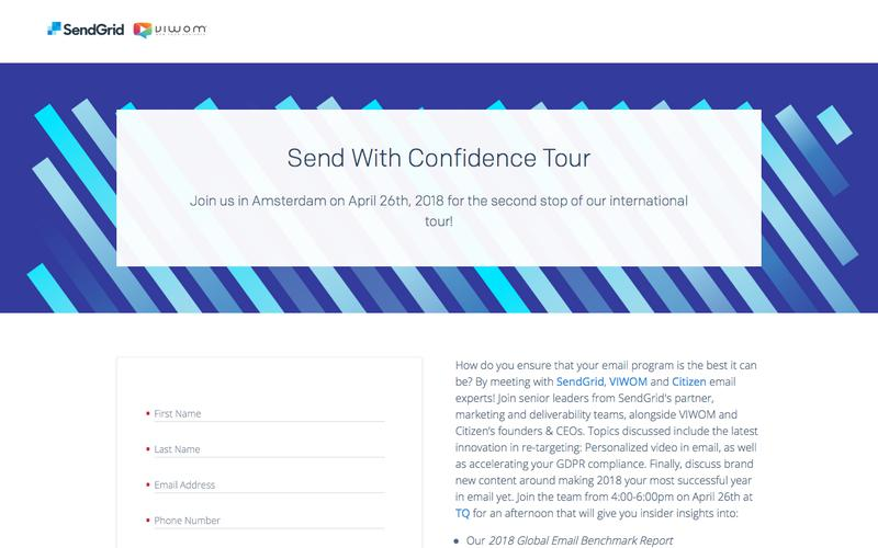 SendGrid - Send with Confidence Amsterdam