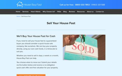 Sell House Fast - Quick Cash Offer | House Buy Fast