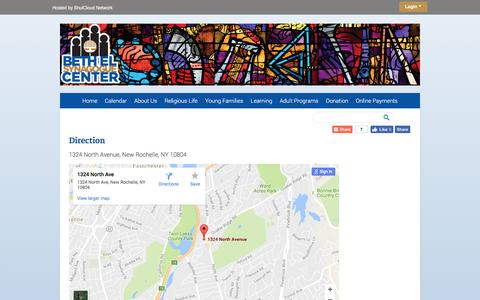 Screenshot of Maps & Directions Page bethelnr.org - Direction - captured Nov. 22, 2016