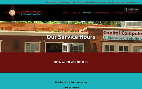 Screenshot of Hours Page ccandns.com - Hours – Capitol Computer & Network Solutions - captured Jan. 29, 2017
