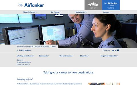 Screenshot of Jobs Page airtanker.co.uk - Careers | AirTanker - captured May 29, 2017