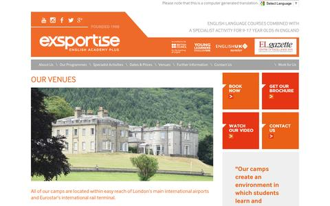 Screenshot of Locations Page exsportise.co.uk - Our Locations | Exsportise Limited - captured Jan. 31, 2016