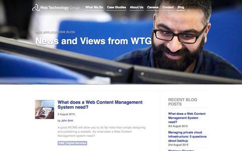 Screenshot of Blog webtechnologygroup.co.uk - Web Applications Blog - captured Aug. 17, 2015