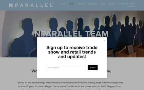 Screenshot of About Page nparallel.com - nParallel Team — nParallel - captured Sept. 21, 2018