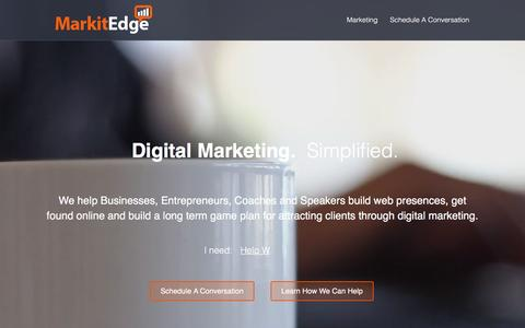 Screenshot of Home Page markitedge.com - Insurance Agency Digital Marketing | AgencyWave - captured March 23, 2016
