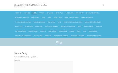 Screenshot of Blog econcepts.com.sa - Blog – Electronic Concepts Co. - captured July 8, 2016