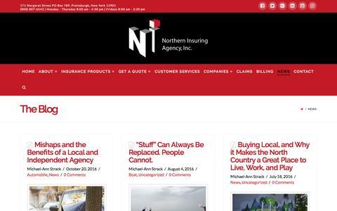Screenshot of Press Page northerninsuring.com - News | Northern Insuring Agency, Inc. - captured Dec. 10, 2016