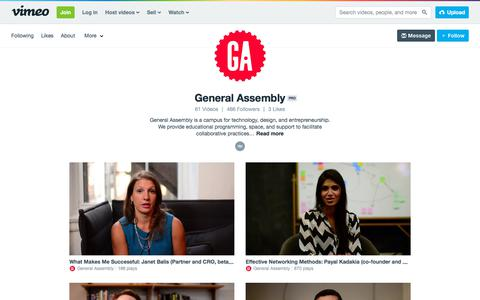 General Assembly on Vimeo