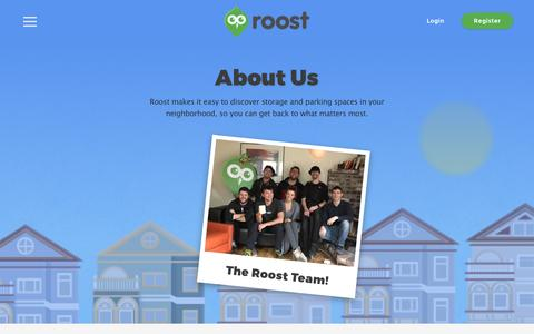 Screenshot of About Page roost.com - About | Roost - captured Feb. 22, 2016