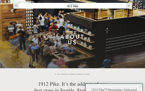 Screenshot of About Page 1912pike.com - About 1912 Pike - captured July 2, 2016