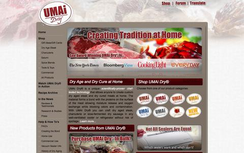 Screenshot of Home Page drybagsteak.com - Dry Age Steak At Home - Dry Aging Beef - Charcuterie & Salumi Kits - captured Sept. 22, 2017