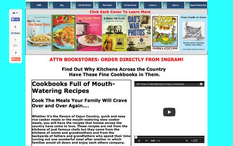 Screenshot of Home Page cypresscovepublishing.com - Cookbooks! Rice Cooker Meals, Cajun Cooking, Slow Cooker Meals-CypressCovePublishing - captured Sept. 30, 2014