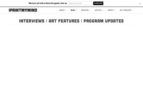 Screenshot of Blog ipaintmymind.org - Art Blog | Interviews & Features: Chicago, IL | IPaintMyMind - captured July 27, 2018