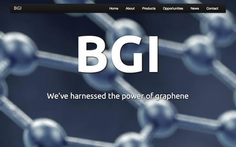 Screenshot of Home Page bgiinc.biz - BGI | BlueVine Graphene Industries, Inc. - captured Oct. 5, 2014
