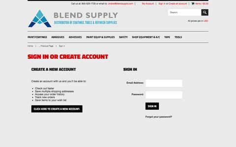 Screenshot of Login Page mybigcommerce.com - BlendSupply.com - Sign in - captured Sept. 18, 2014
