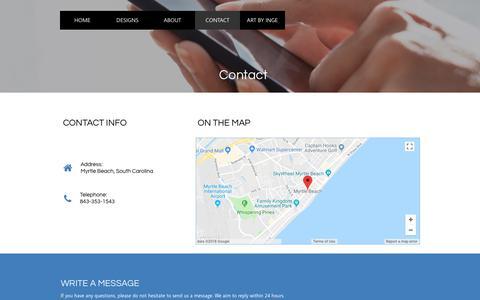 Screenshot of Contact Page ingeinc.com - ingeinc contact - captured July 9, 2018