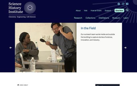 Screenshot of Jobs Page sciencehistory.org - Careers and Fellowships | Science History Institute - captured July 19, 2018