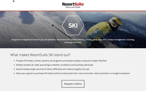 Ski Resort Management Software | ResortSuite