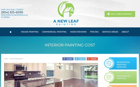Screenshot of Pricing Page anewleafpainting.com - How Much Does Interior House Painting Cost 2018 | | A New Leaf Painting Service - captured Sept. 27, 2018