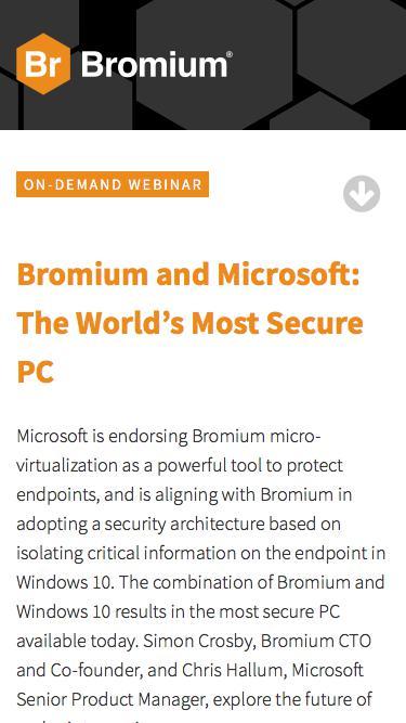 Bromium: Webinar On-Demand - Microsoft Bromium Partnership