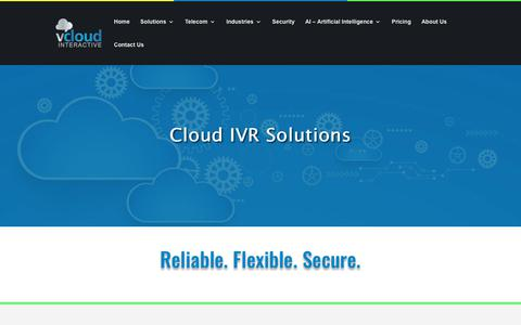 Screenshot of Pricing Page vcloud.com - Cloud IVR Solutions | - captured Oct. 20, 2018
