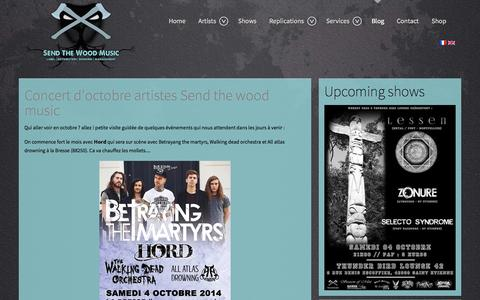 Screenshot of Blog sendthewoodmusic.com - Blog - Send The Wood Music - Label Métal,Punk,Rock - captured Sept. 30, 2014