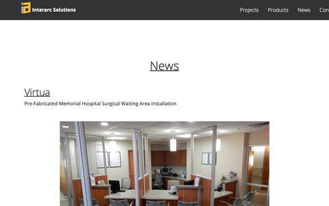 Screenshot of Press Page interarcsolutions.com - news - captured Oct. 12, 2018