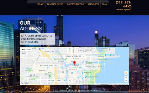 Screenshot of Maps & Directions Page harmlaw.com - Chicago Personal Injury Attorneys | Chicago | Harman & Fedick, Ltd. | MAP - captured Sept. 27, 2018