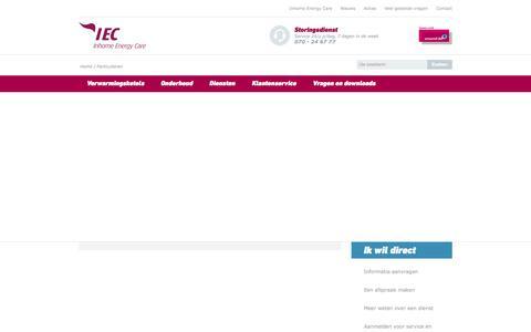 Screenshot of Home Page inhomeenergycare.be - Altijd een aangenaam klimaat in huis. - Inhome Energy Care - captured Aug. 5, 2016