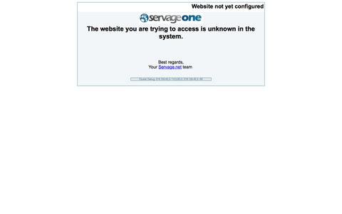 Website not yet configured
