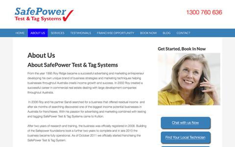 Screenshot of About Page safepower.net.au - About Us - SafePower - captured Nov. 18, 2016