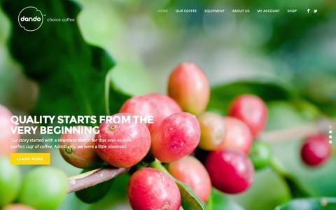 Screenshot of Home Page dando.co.za - DANDO - captured Jan. 24, 2015
