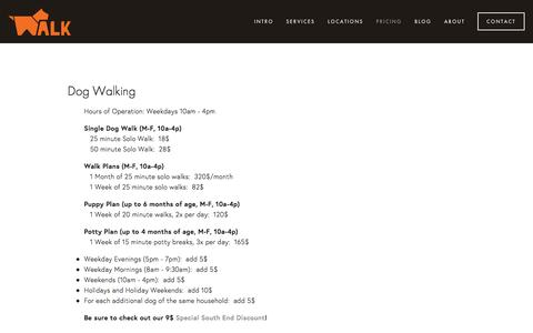 Screenshot of Pricing Page walkmydog.com - Pricing — Boston Dog Walking and Pet Sitting - captured Feb. 26, 2016