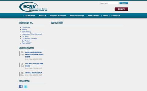 Screenshot of Jobs Page ecnv.org - Work at ECNV - captured Sept. 26, 2018