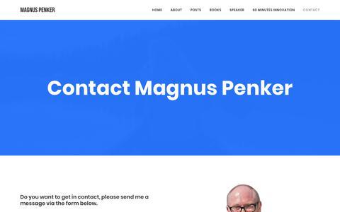 Screenshot of Contact Page penker.se - CONTACT MAGNUS – Magnus - captured Dec. 14, 2018