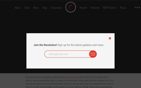 Screenshot of Terms Page revolution.com - Terms of use — Revolution - captured Feb. 14, 2018
