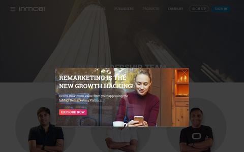 Screenshot of Team Page inmobi.com - InMobi   Monetization   Advertising    Remarketing   Video - captured Nov. 8, 2016