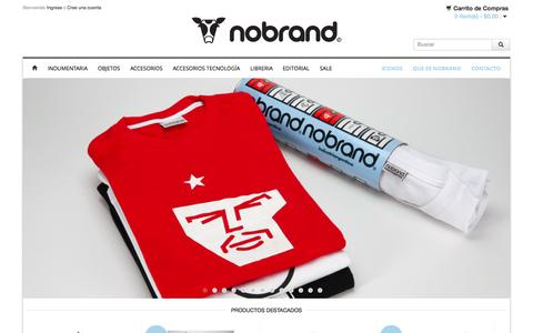 Screenshot of Home Page nobrand.com.ar - Nobrand - captured Sept. 30, 2014