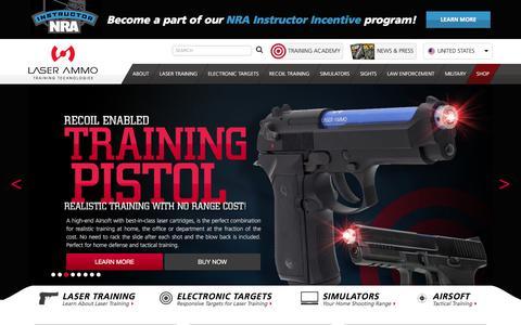 Screenshot of Home Page laser-ammo.com - Home | Laser Ammo - captured Sept. 25, 2018