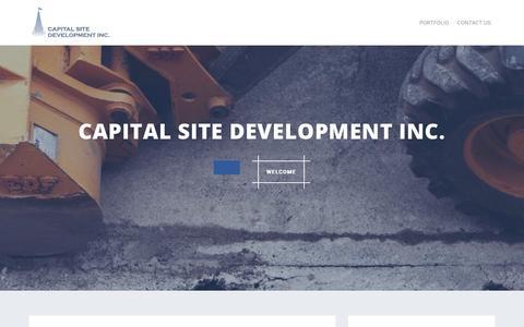 Screenshot of Home Page capitalsd.com - Capital Site Development Inc.  – Ottawa, ON - captured Sept. 26, 2018