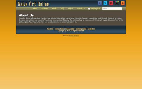 Screenshot of About Page naiveartonline.com - About Us   Naive Art Online - captured Sept. 30, 2014