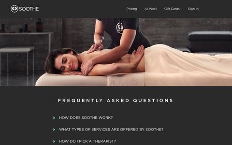 FAQ | Soothe