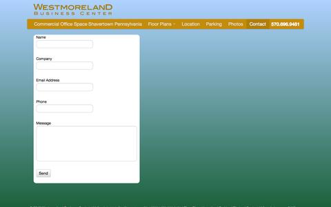 Screenshot of Contact Page westmorelandbusinesscenter.com - Westmoreland Business Center   Contact - captured Oct. 7, 2014