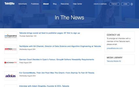 In The News | Taboola.com